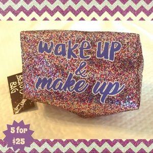 Handbags - Wakeup & Makeup sparkly cosmetic bag